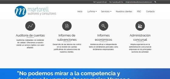 Martorell Auditores y Consultores renueva su web con un diseño más espectacular y adaptado a todos los dispositivos
